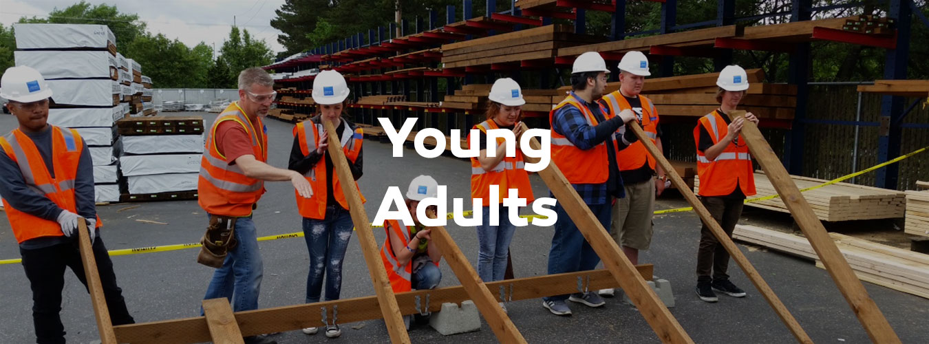 Young Adults construction header dark